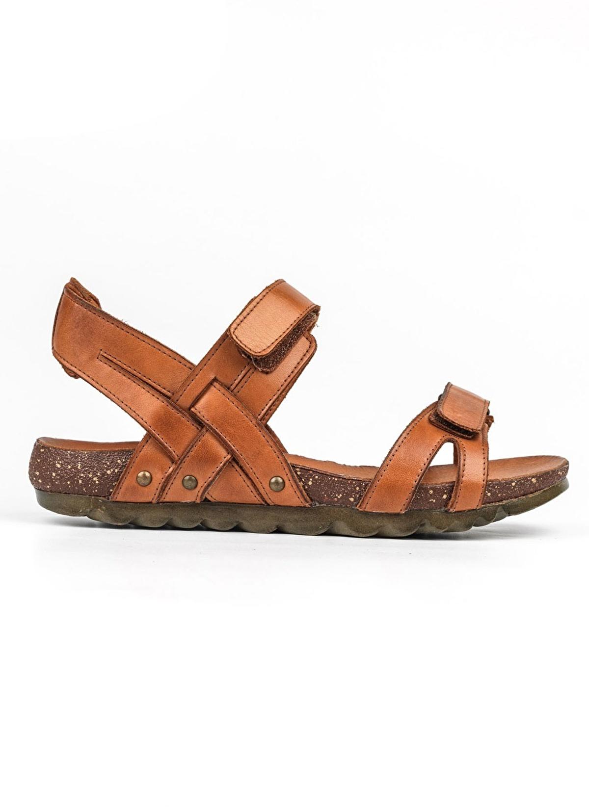 0097a8dffc815 Riccardo Colli Kadın Hakiki Deri Sandalet 17-Taba | Morhipo | 18957404